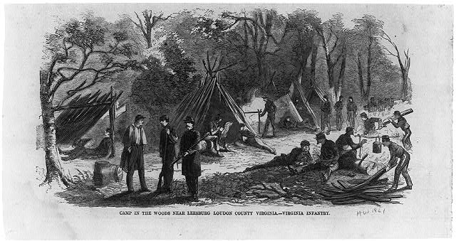 Camp in the Woods near Leesburg, Loudon [sic] County, Virginia - Virginia Infantry