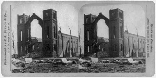 [Ruins of Trinity Church, Chicago, after the great fire of Oct. 1871]