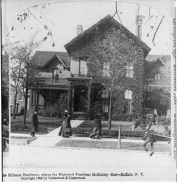 The Milburn residence, where the martyred President McKinley died - Buffalo, N.Y.
