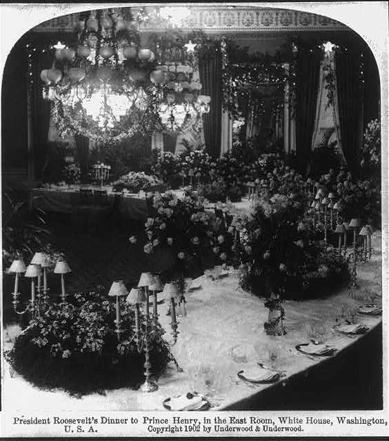President Theodore Roosevelt's dinner to Prince Henry of Pless, in the East Room, White House