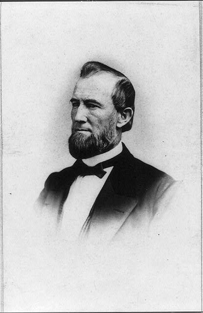 [James Buchanan Eads, engineer and inventor of ironclad warships, head-and-shoulders portrait, facing left]