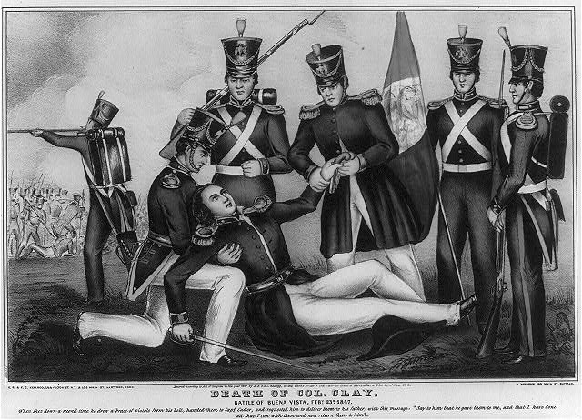 Death of Col. Clay, Battle of Buena Vista, Feby. 23d, 1847