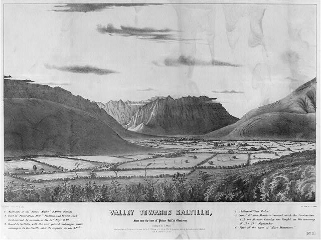 "Valley towards Saltillo, from near the base of ""Palace Hill,"" at Monterey (sic) (looking to the S. West)"