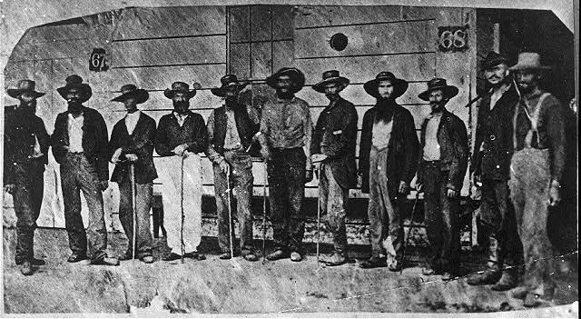 Commissioned officers of 19th Iowa Infantry after their exchange as prisoners of war, New Orleans
