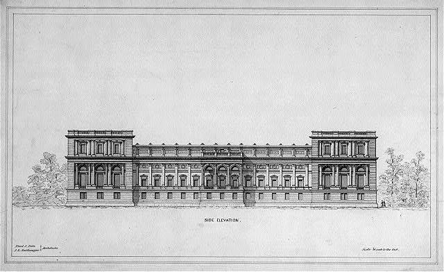 [Library of Congress, Washington, D.C. Side elevation]