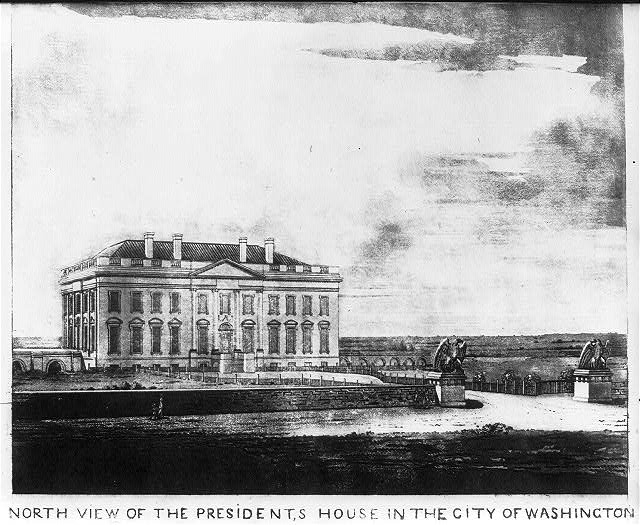 North view of the President's house in the city of Washington