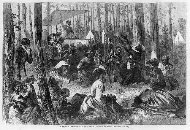A Negro camp meeting in the South