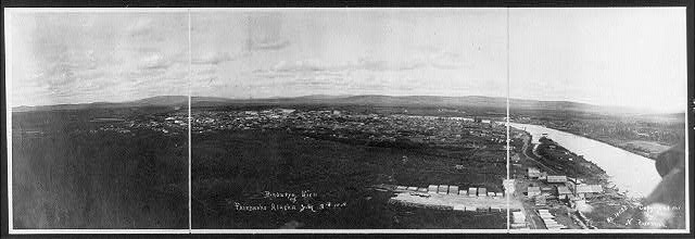 [Bird's-eye view of Fairbanks, Alaska, July 3, 1908]