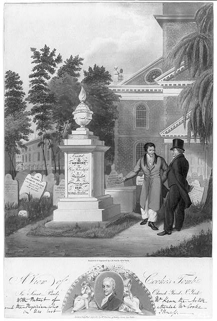 A view of Cooke's tomb in St. Paul's Church yard, N. York