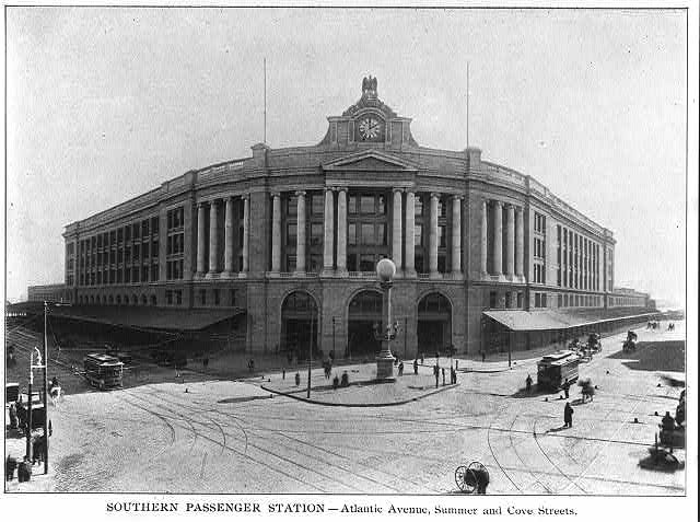 Southern passenger station - Atlantic Avenue, Summer and Cove Streets, Boston, Mass.