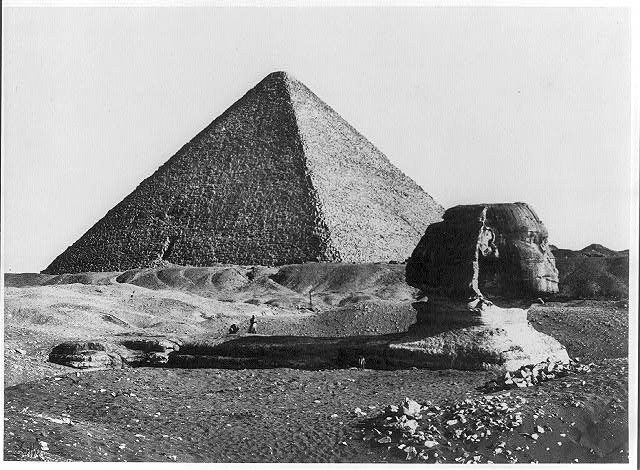 The Great Pyramid and the Sphinx, [Gezeh, Egypt]