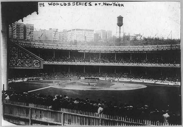 Baseball parks - Polo Grounds during World Series game, 1913