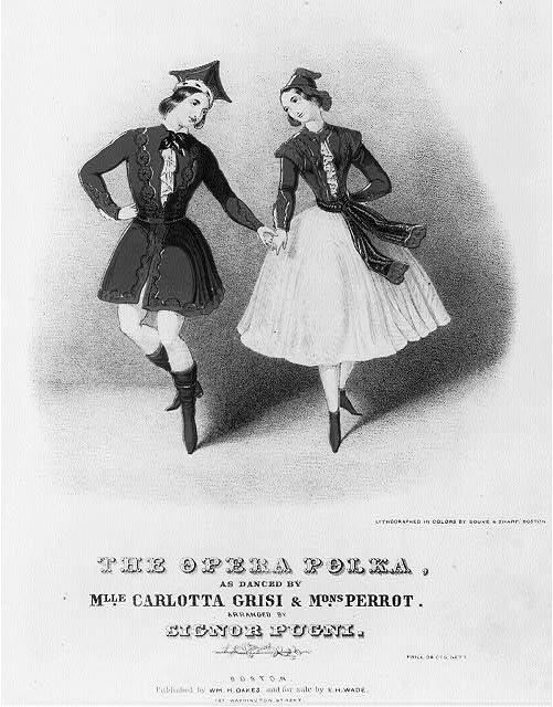The Opera Polka as danced by Mlle. Caroltta Grisi & Mons. Perrot