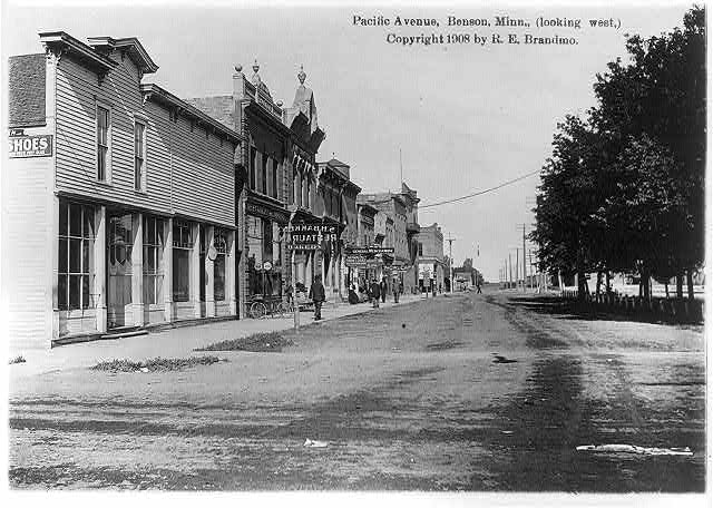 Pacific Avenue, Benson, Minn., looking west