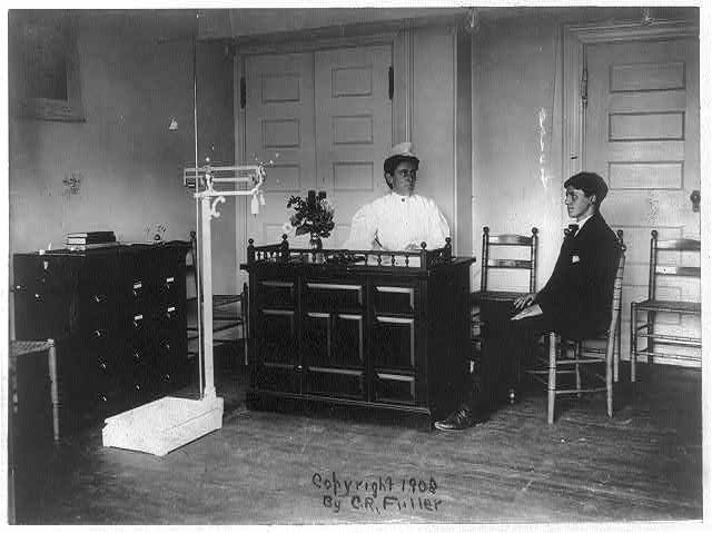 Receiving room of tuberculosis clinic, Schenectady, N.Y.