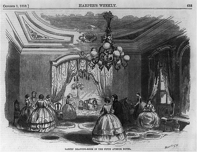 Ladies' drawing-room in the Fifth Avenue Hotel, [New York City]