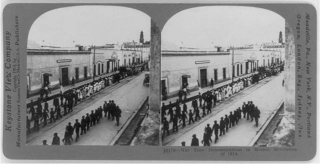 War time demonstrations in Mexico, Revolution of 1914