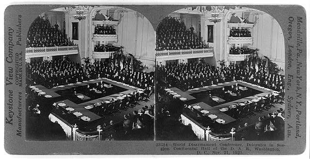 World Disarmament Conference, delegates in session, Continental Hall of the D.A.R., Washington, D.C., Nov. 21, 1921