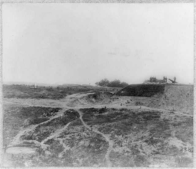 Seige of Yorktown, Va.: Confederate fortifications