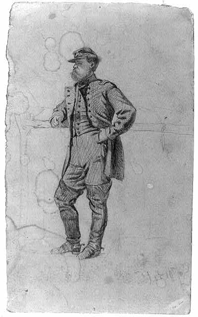 Sketch of officer of infantry. The colonel