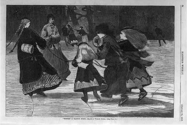 Winter - a skating scene