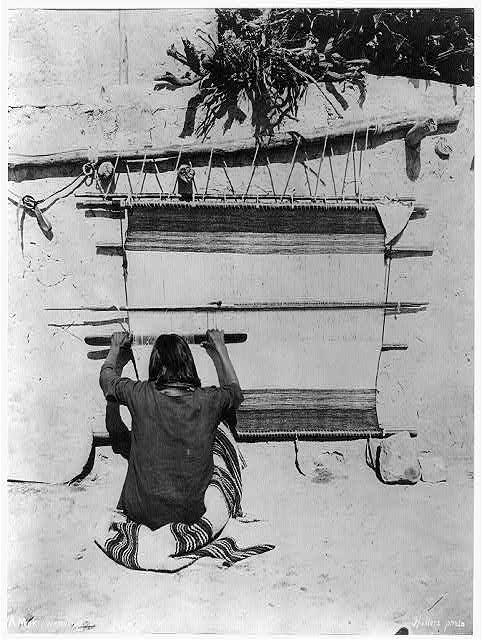A Moki weaving