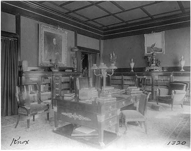[Office in Senator Philander Knox house, Washington, D.C.]