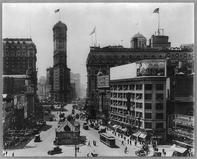 Longacre Square, S. from 46th St., New York City