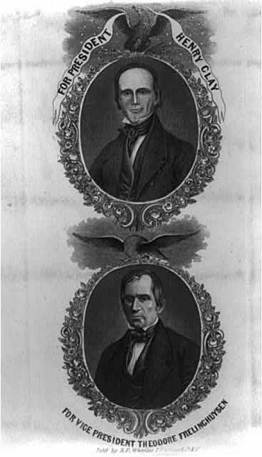 For president, Henry Clay. For vice president, Theodore Frelinghuysen