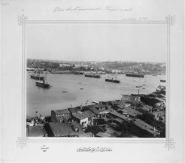 [View of the Navy Office seen from the Sultan Selim]