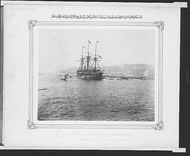 [Warship Kaiser on which Kaiser Wilhelm II of Germany came to Istanbul]