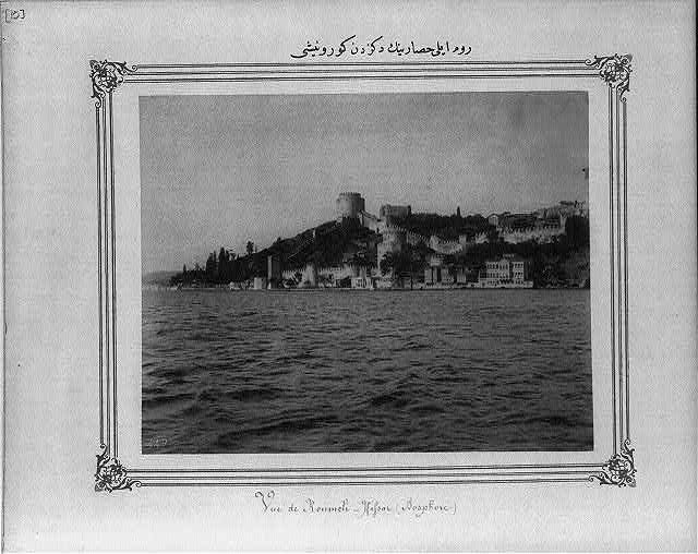 [View of the Rumeli Hisarı (fortress) from the sea]