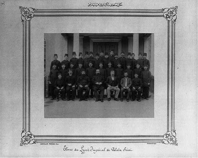 [Group photograph of the students of the Mekteb-i Sultani]