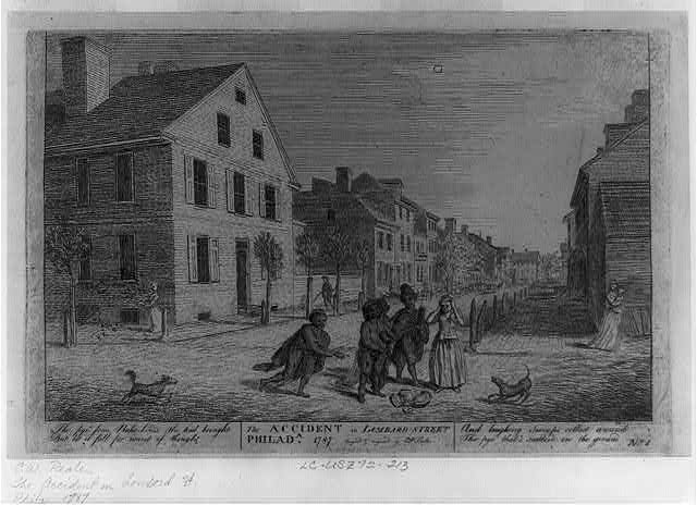 The accident in Lombard Street Philada. 1787