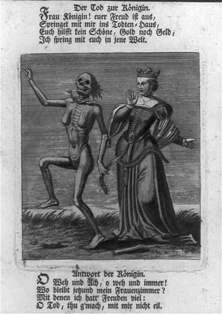 Der Tod zur Königin. Frau Königin! euer Freud ist aus, springet mit mir ins Todtenhaus, ... / Chovin s.