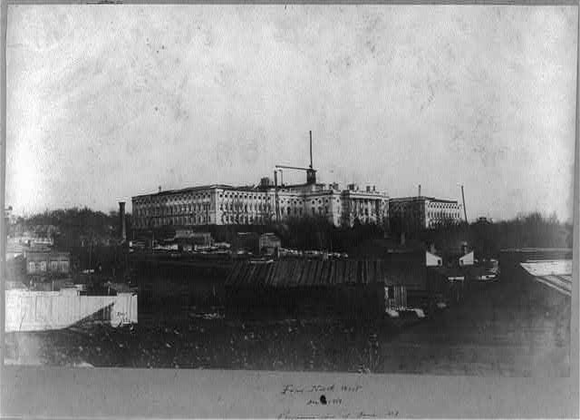 Capitol construction, from north west. Progressive view of dome, no. 1