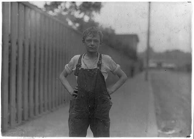 Young worker in Merchants Mill.  Location: Fall River, Massachusetts