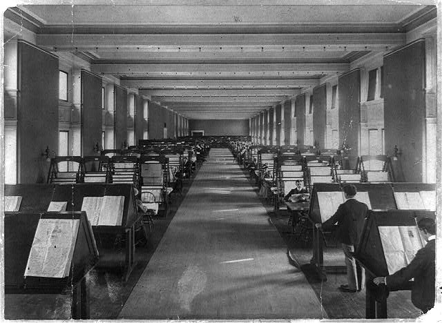 Photograph of the Newspapers & Current Periodicals Reading Room, Library of Congress