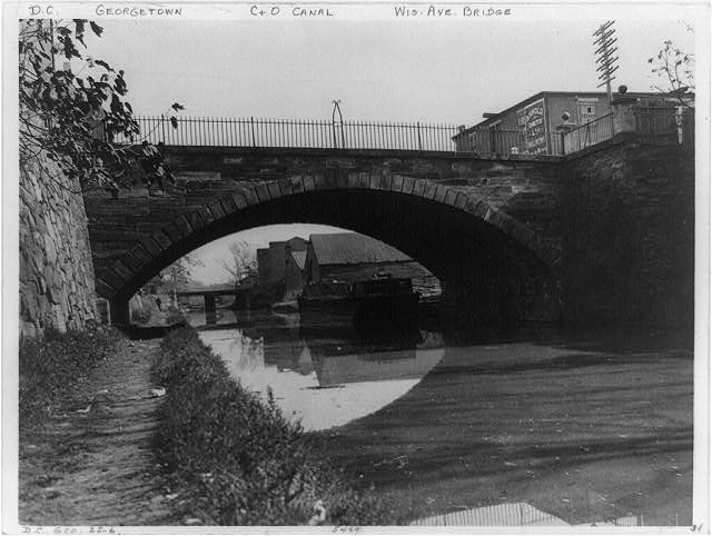 [C&O Canal and Wisconsin Avenue Bridge, Georgetown, Washington, D.C.]
