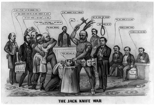 The jack knife war