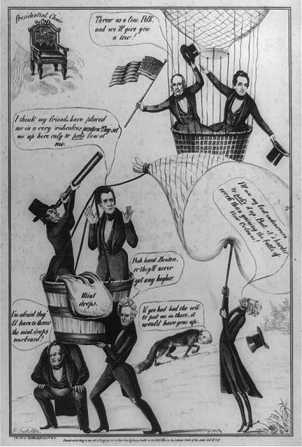 Political cartoon from 1844