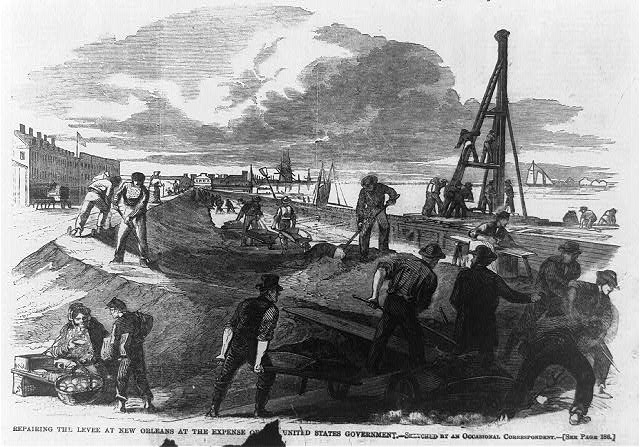 Repairing the levee at New Orleans at the expense of the U.S.government