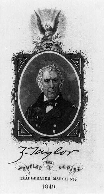 Z. Taylor, the people's choice, inaugurated March 5th, 1849
