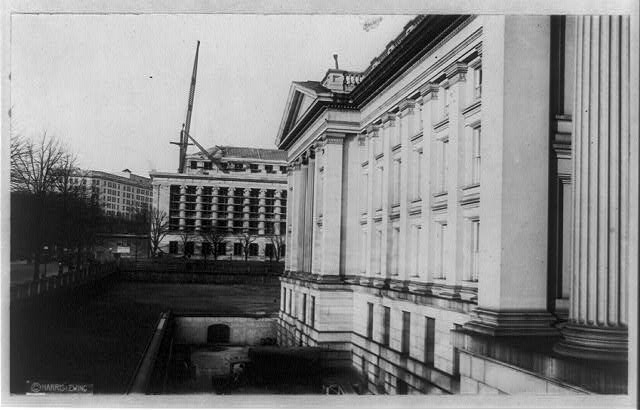 D.C., Washington, Treasury Building, exterior including new annex