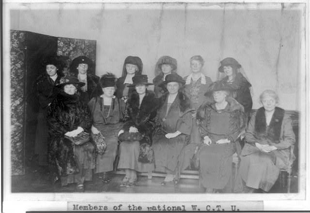 Members of the national W.C.T.U. committee which founded the Grace Dodge Hotel for women in Washington, D.C., who are on tour of the completed hotel, which has been in operation for several weeks