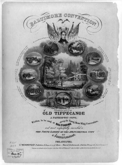 Baltimore Convention, Old Tippecanoe, a patriotic song