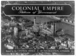 [Title page of album, Colonial empire: pattern of government, showing aerial view of London]