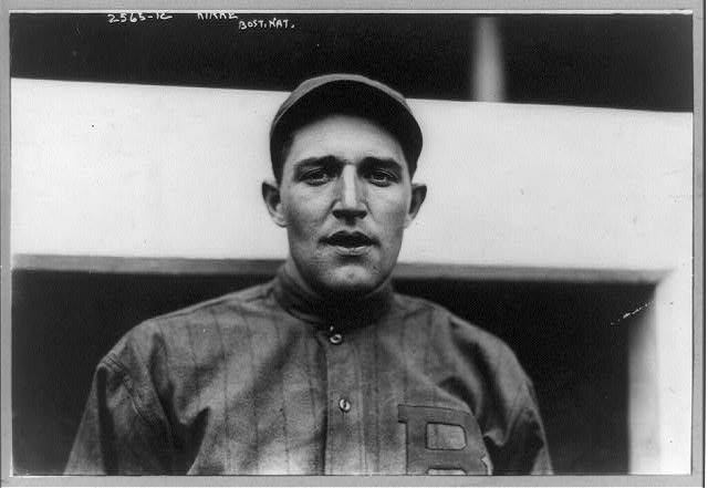 [Jay Kirke, baseball player for Boston Nationals, head-and-shoulders portrait, facing front, in uniform]