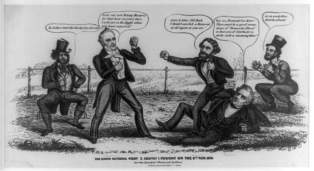 The grand national fight 2 against 1 fought on the 6th of Nov. 1856 for one hundred thousand dollars