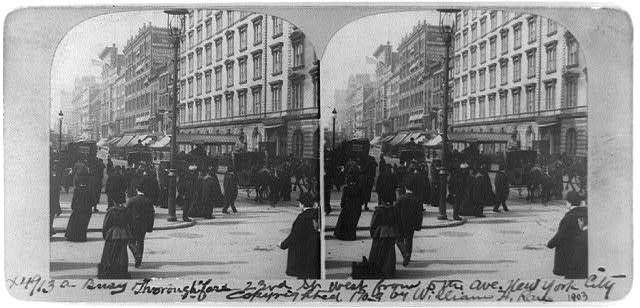 A busy thoroughfare, 23rd St. west from 5th Ave., New York City
